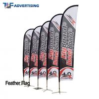 Buy cheap 16ft Flag Advertising Banners Large Swooper Anti Corrosion Vertical High Precison product