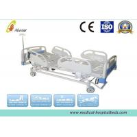 Buy cheap Hospital Electric Bed 5 Funtion ABS Guardrails ICU Bed With Brake Wheel (ALS-E502) product