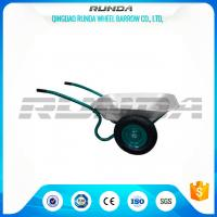 Buy cheap Galvanized Color Double Wheel Wheelbarrow 6CBF 1.2mm Tray Thickness 13.9kg product