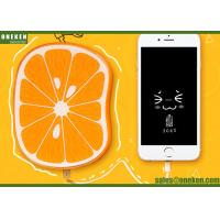 Buy cheap Fastcharging 8000mAh Fruit Power Bank Orange Polymer Battery CE / ROHS product