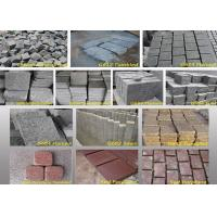 Buy cheap Outdoor Garden Natural Paving Stones Basalt Cobble Stone Raw Material product