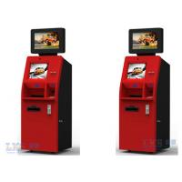Buy cheap Customer Service Banking ATM Kiosk , Money Automatic Teller Machine Red Color product