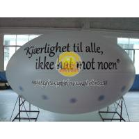 Buy cheap White Oval ( ellipse shape ) Filled Helium Gas Balloons for Parade, Inflate Ground Balloon product