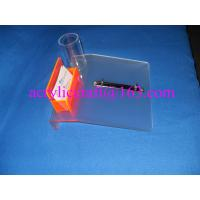 China Frosted acrylic desktop calendar stand with name card holder & pen holder on sale