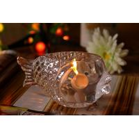 Buy cheap Fashional Creative Clear Glass Tealight Candle Holders Small Gold Fish product
