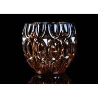 Buy cheap 315ml Dimpled Shape Glass Candle Jars with Color Sprayed Electroplated Effect product