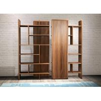 China 2017 New walnut wood Bespoke Furniture Storage Cabinet Display Shelves with Glass door on sale