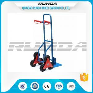 Buy cheap Telescopic Heavy Duty Hand Trolley Double Wheels Powder Coating Steel Tube 200kg product