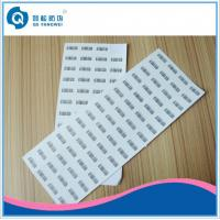 Buy cheap Pantone Printed Self Adhesive Labels , Silk Screen Printing Destructive Vinyl Stickers product
