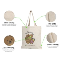 Buy cheap 15oz Snap Button X Stitched Canvas Cotton Tote Bag product