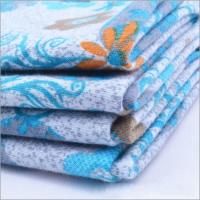 China Rusha Textile  Knitting Printed Poly Spun Single Jersey Fabric Importers In Dubai on sale