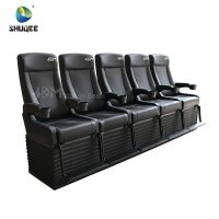 Buy cheap 4D Cinema System PU Leather Motion Seat Black Color With 40 Seats product