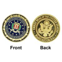 China Wholesale Novelty Colorful Pure Gold Plated Coin of U.S. Department Of Justice American FBI Metal Challenge Coin For Gif on sale