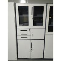 Buy cheap Dark gray and white color three drawers and safety box use for office storage cabinet product