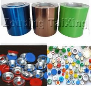 Buy cheap 8011 Colored Aluminum Foil For Pilfer Proof Cap, Pharma Vial Seals, Pharmaceutical Caps product