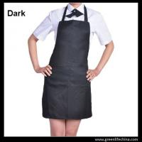 Buy cheap Classic black promotional plan aprons in stock ready for customized logo advertisment need product