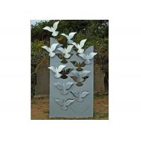 Buy cheap Flying Large Metal Lawn Sculptures Animal Statue Wall Decoration Modern product