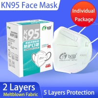 Buy cheap 5 Ply Protective Hygiene Dustproof KN95 Face Mask product