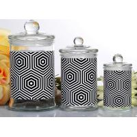 Buy cheap Customized Candle Glass Containers Storage Jar With Lid 710ml product