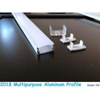 Buy cheap Aluminum extrusion for kitchen cabinet opal plastic coverd led aluminum profile with clips end caps accessory product