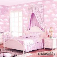 Buy cheap Pink Color Wallcovering PVC 0.53*10M/Roll Children Room Decorative Wallpaper Wholesale product