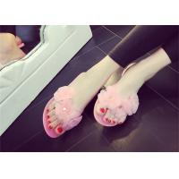 Buy cheap Pretty Womens Thong Slippers , Summer Flip Flops Plastic Upper With Three Flowers product