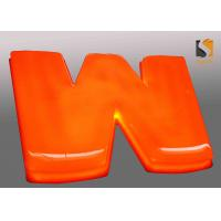 Buy cheap Orange Outdoor Vacuum Formed Lighted Channel Letters With Dome Shape Face / Prismatic Face product