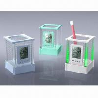 Buy cheap Blue Light/Colorful Calendar Pen Holders with Multifunction product
