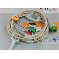 Buy cheap 5 Leads Snap AHA ECG Patient Cable , Mindray 12 Pin One Piece ECG Cable product