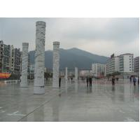 Buy cheap outdoor square dragon stone pillar product
