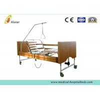 Five Functions Electric Wooden Medical Hospital Beds / Home Care Bed by Cold Roll Sheet (ALS-HE001)