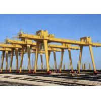 Buy cheap Outside Industrial Double Beam Gantry Crane Rail Mounted With Hook High Strength product