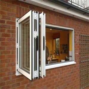 Buy cheap ODM Smooth Folding Glass Windows, Clear Anodised Aluminium Windows product