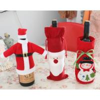Buy cheap delicate Christmas red wine bottle cover product