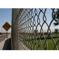 China Professional Chain Link Fence cyclone wire fence roll 1.22m x 25m standard roll color green on sale