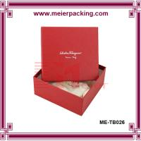 Buy cheap Sliver logo jewelry paper gift box/colorful printed paper packing box wholesale ME-TB026 product