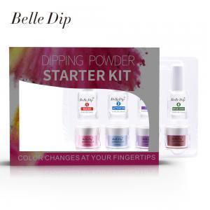 Buy cheap No need UV lamp Dipping powder bulk 3 in 1 nail dipping powder system 15ml bottle dipping liquid product