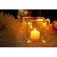 Buy cheap 7 oz Square Thick modern glass candle holders / 230ml glass jar candle holders product