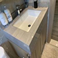Buy cheap Natural Quartz stone Marble bathroom Vanity Tops For Hospitality Remodeling product
