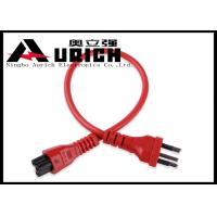 Buy cheap High Speed Three Prong AC Power Cable For Laptop Brazil Style Inmetro Standard product