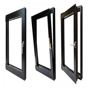 Buy cheap Double Glazed Aluminium Tilt And Turn Windows Anodized With Gold Handles ISO9001 product