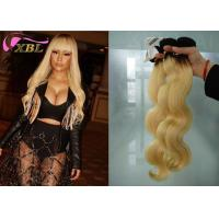 China From 12 inch to 26 inch Ombre Blonde Brazilian Body Wave Human Hair Weave #1b/613 Colored wholesale
