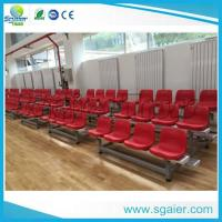 Quality University Tiered Seating Aluminum Stadium Bleachers Mobile With Red Chair / Wheel for sale
