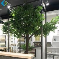 Buy cheap 2m Artificial Tree Plant , Decorative Large Ficus Bailey Tree With Wood Trunk product