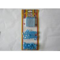 Buy cheap Blue Spiral Birthday Candles Paraffin Craft Candle No Smoke for Festivals product