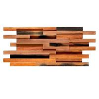 Buy cheap Solid Wood Mosaic Wall Panels , Room Reclaimed Boat Wood Wall Panel product