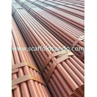 Buy cheap Scaffold pipe, scaffolding steel tube, Q235 painted, black, hot dip galvanized tube, 48.3mmO.D BS1139, BS1387, EN39 product