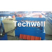 Buy cheap 0.3 - 0.8 mm Thick Roof Sheet Cold Roll Forming Machine with PLC Computer Control product