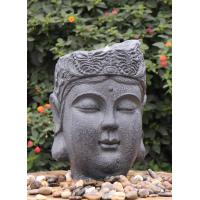 Garden Ornaments Buddha Face Water Fountain With Lights Outdoor
