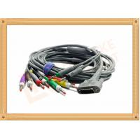 Buy cheap DB9 15 Pin One Piece ECG Monitor Cable 10 Leadwires Banana IEC , No Toxic from wholesalers